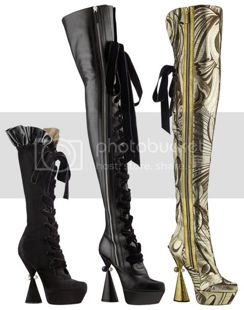 CancanThighBoots Louis Vuitton Cancan Shoe Collection